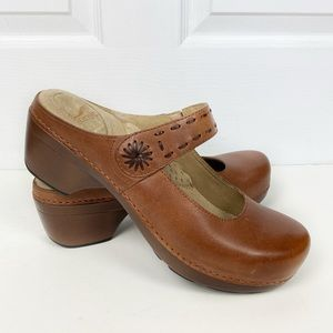 NEW Dansko Solitaire Backless Mary Jane Clogs 40
